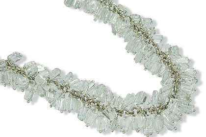clustered aquamarine necklaces