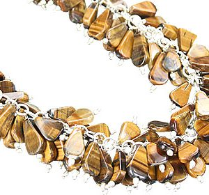 clustered tiger eye necklaces 2