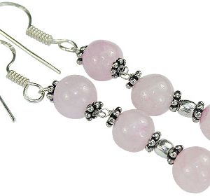rose quartz earrings 3