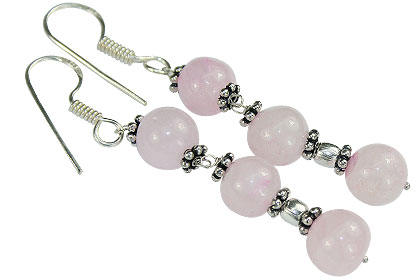 Rose Quartz Earrings 3