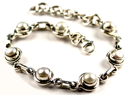 Pearl Sterling Silver Bracelet 3