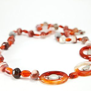 simple-strand carnelian necklaces 2