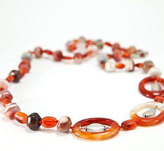 simple-strand carnelian necklaces 2