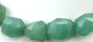 Faceted Green Aventurine Beads