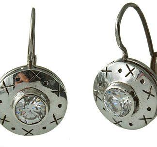 classic white topaz earrings
