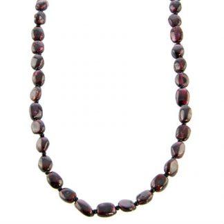 simple-strand garnet necklaces 3