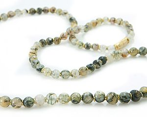 Black Tourmalated Quartz Necklace 9