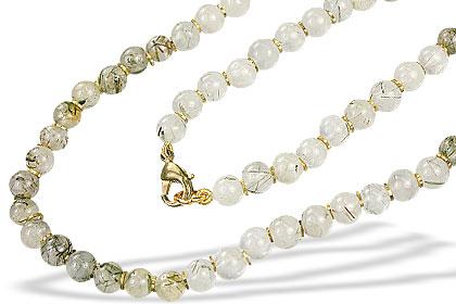 Black Tourmalated Quartz Necklace