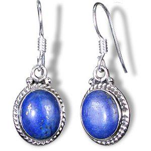 contemporary lapis lazuli earrings