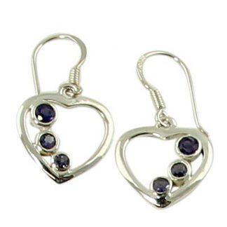 faceted iolite earrings 12