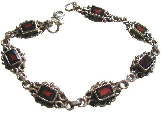 Ethnic Garnet Bracelets