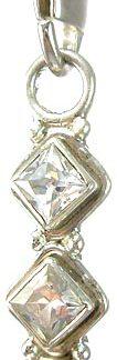 zipper-pull cubic zirconia pendants