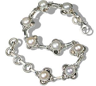 Pearl Sterling Silver Bracelet