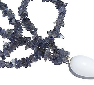 chipped iolite necklaces