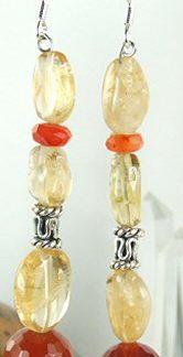 chunky carnelian earrings