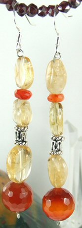 Chunky Carnelian Earrings