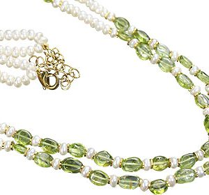 Peridot Pearl Necklace