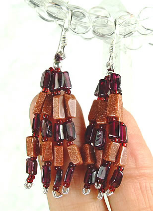 Multistrand Garnet Earrings 2