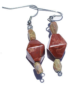 Unakite Earrings 2