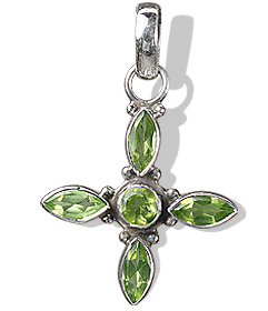 Cross Peridot Pendants