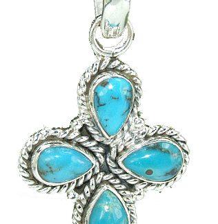 Turquoise Cross Pendant