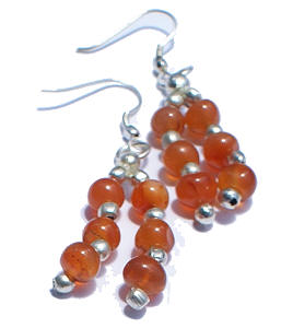 Multistrand Carnelian Earrings