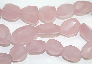Faceted Rose Quartz Beads (20-25mm)
