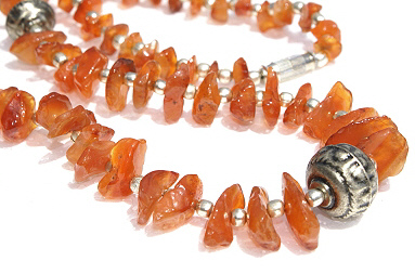 Chipped Carnelian Necklaces