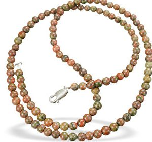 ethnic unakite necklaces