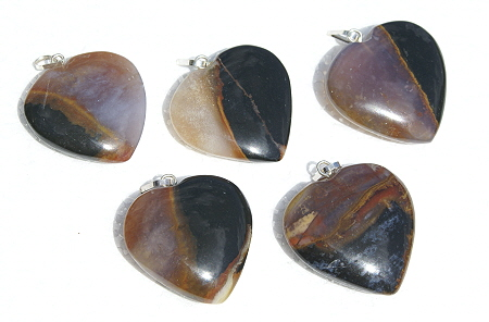 heart sardonyx pendants