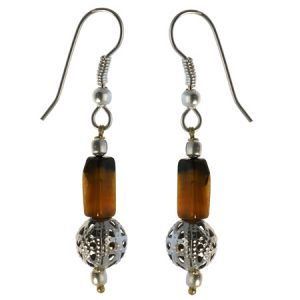 ethnic tiger eye earrings