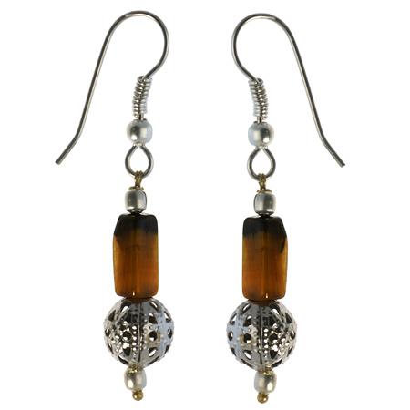 ethnic tiger eye earrings