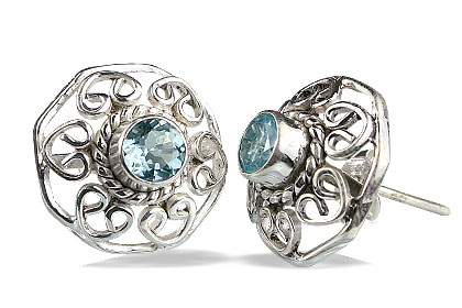 Post Blue Topaz Earrings 2