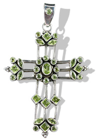 Cross Peridot Pendants 2