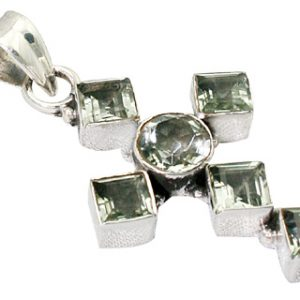 cross green amethyst pendants