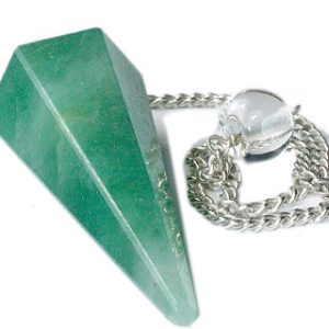 Faceted Green Aventurine Pendulum