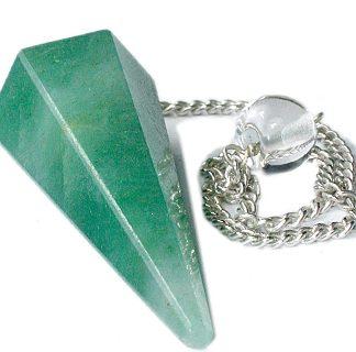 Faceted Green Aventurine Pendulum