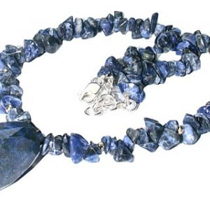 chipped sodalite necklaces