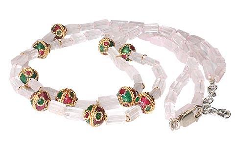 Ethnic Rose Quartz Necklaces