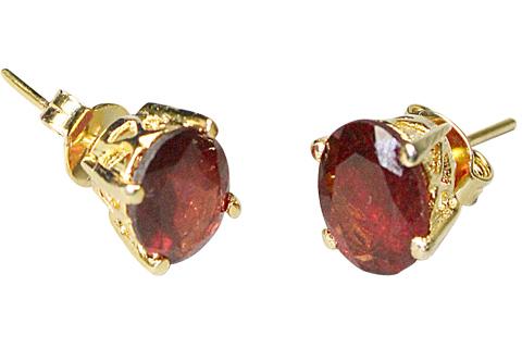 Post Garnet Earrings