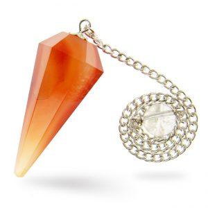 Faceted Carnelian Pendulum