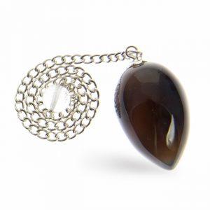 Grey Agate Drop Pendulum
