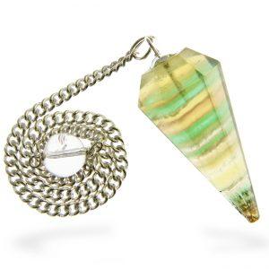 Faceted Fluorite Healing Pendulum