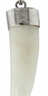 snow quartz tooth claw pendant