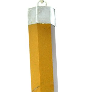 camel jasper pencil pendant