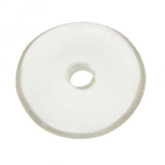 Crystal Quartz Donut Pendant