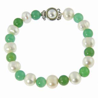 Pearl and Aventurine Bracelet