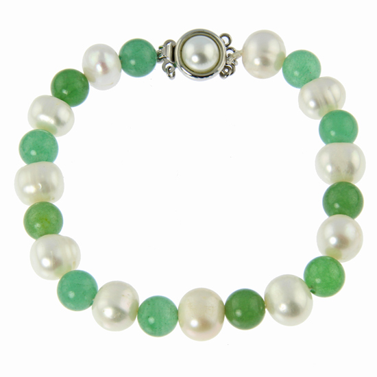 Pearl And Aventurine Bracelet