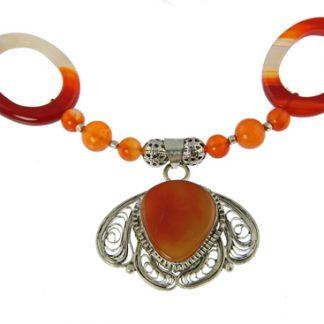 Carnelian Medallion Necklace