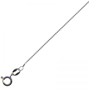 Sterling Silver Box Chain Necklace (16""